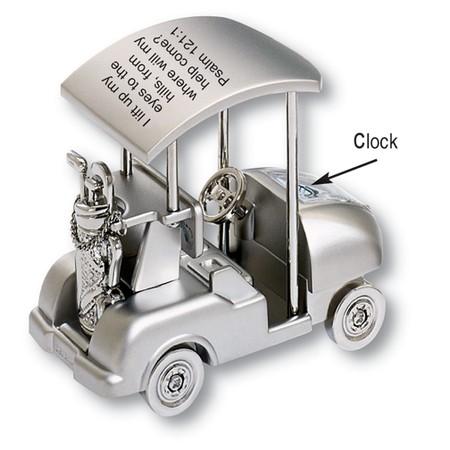Christian Golf Cart Desk Clock