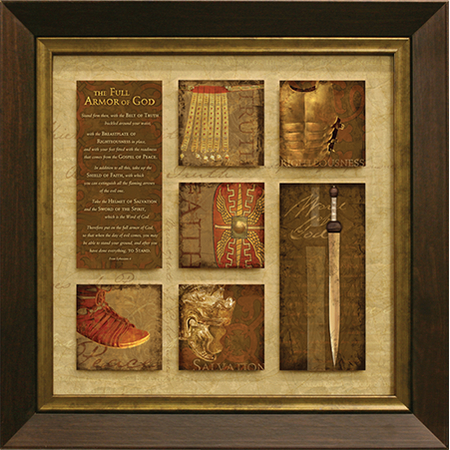 Full Armor of God Scripture Framed Art Print