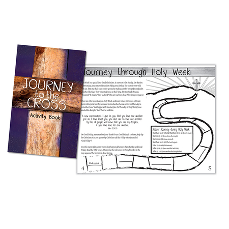 Easter Holy Week Journey To the Cross Activity Book