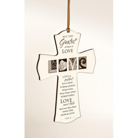 Love is Patient wedding wall cross gift