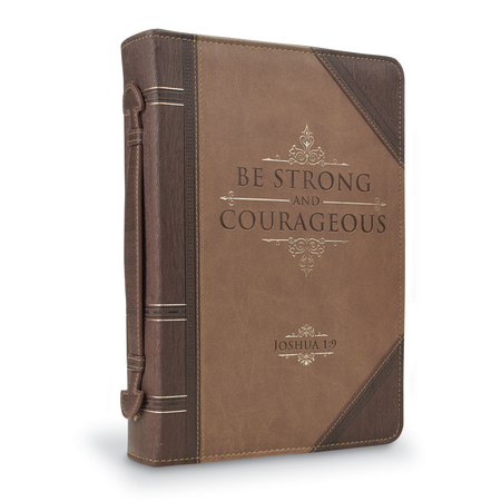 Scripture Strong and Courageous large Bible Covers for men