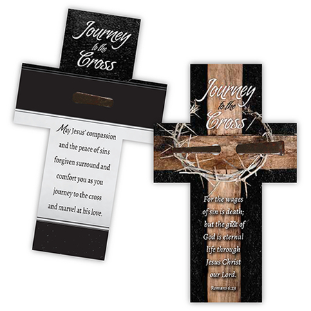 Easter Cross bookmark with nail keepsake
