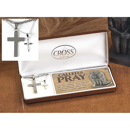 Cross necklace set for couples