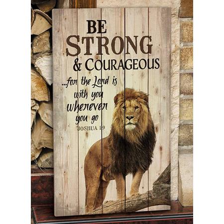 Christian lion rustic art work