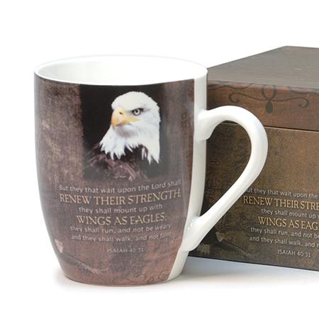 Eagles wings Christian gift mug