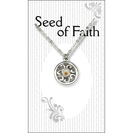Mustard seed jewelry necklace