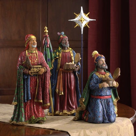 Nativity three wise men figures
