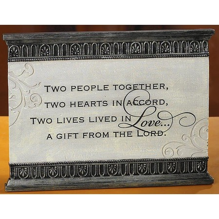 Christian Wedding gift from Lord Plaque