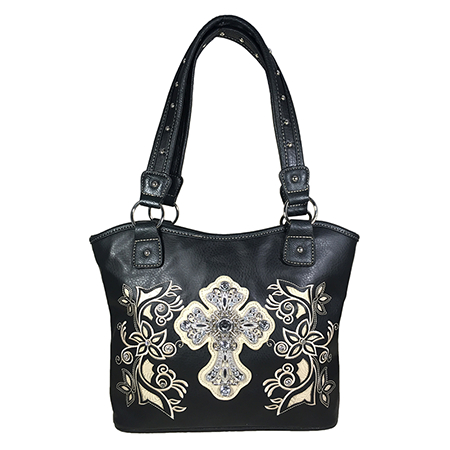 Black Western Style Cross handbag