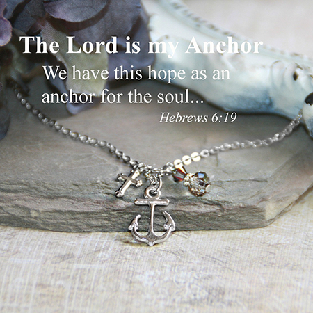Lord is the Anchor Necklace for women